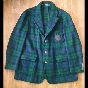 (Rare) Polo Ralph Lauren Wool Large patch Blazer